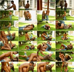 Nathaly Cherie in Grass Burns And Satin Passion FullHD [FullyClothedSex/Tainster] 958 MB/1080p