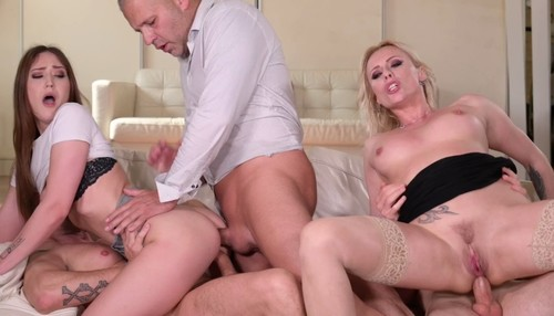 Hardcore DP Mother Daughter Orgy with Brittany Bardot and Mina