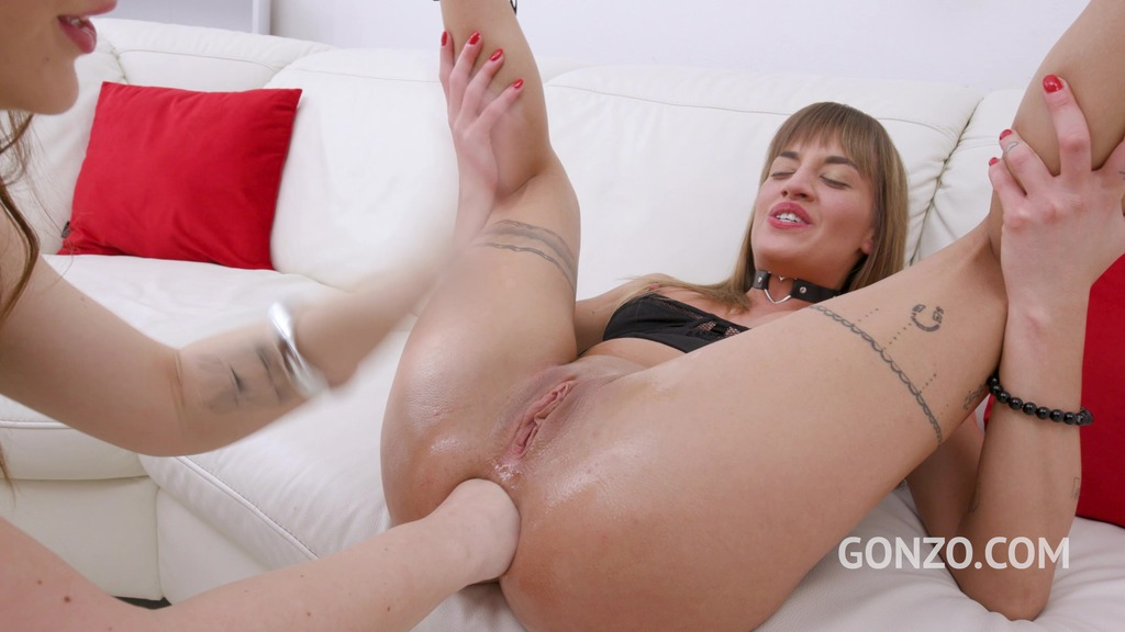 LegalPorno - Gonzo_com - Silvia Dellai and Kristy Black fisting each other before hot DAP fucking with 5 guys SZ2621
