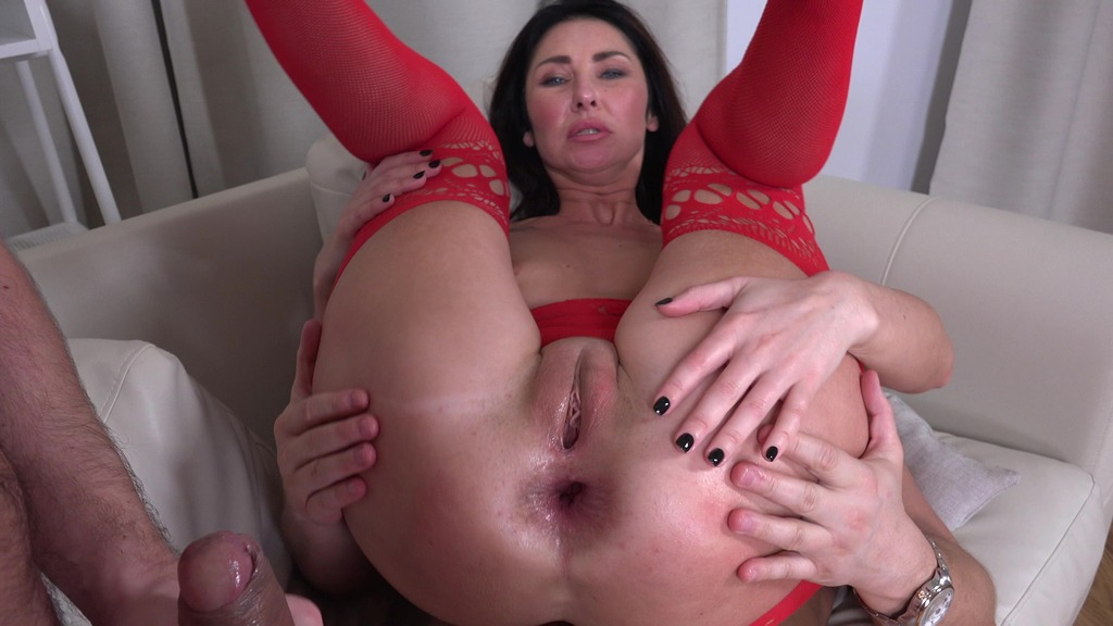 LegalPorno - Vira Gold Films - First DP Sexy Milf Eva Black with Rimming and Cum in Mouth VG010