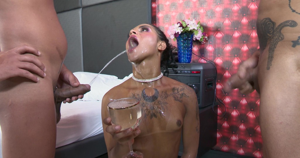 LegalPorno - Busted T-Girls - Busted T-Girls goes Wet, Isabella Fontenelle 5on1, Balls Deep Anal, DAP, Pee Drink, Facial BTG070