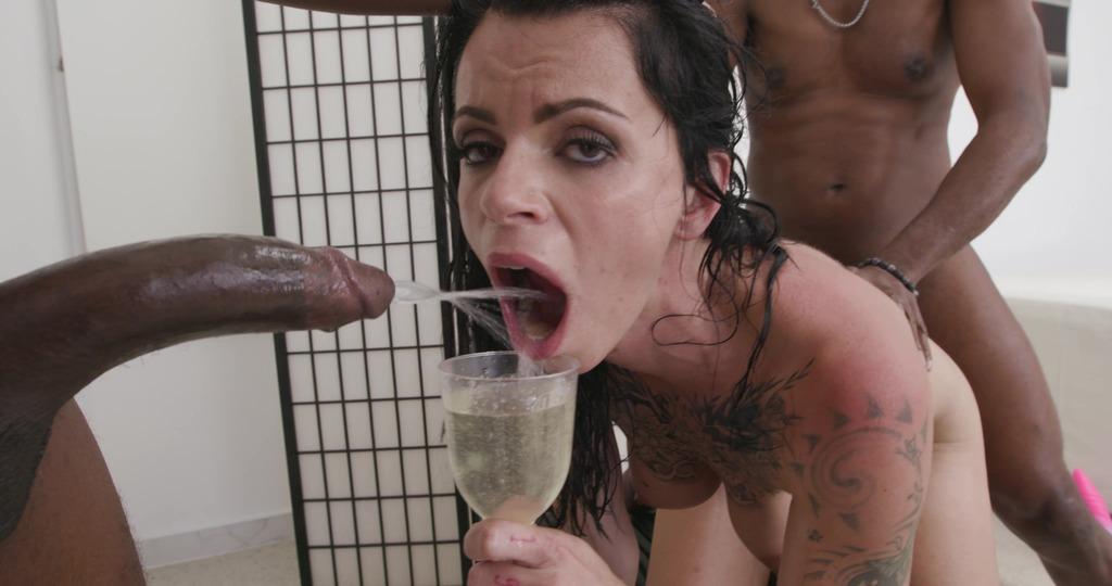 LegalPorno - Giorgio's Lab - Black Pee Matter, Nina Roca, 2on1, BBC, ATM, DAP, Rough Sex, Gapes, Pee Drink, Cum in Mouth, Swallow GL551